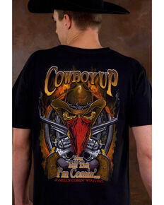 Cowboy Up Men's Skeleton Cowboy Graphic Tee, Black, hi-res
