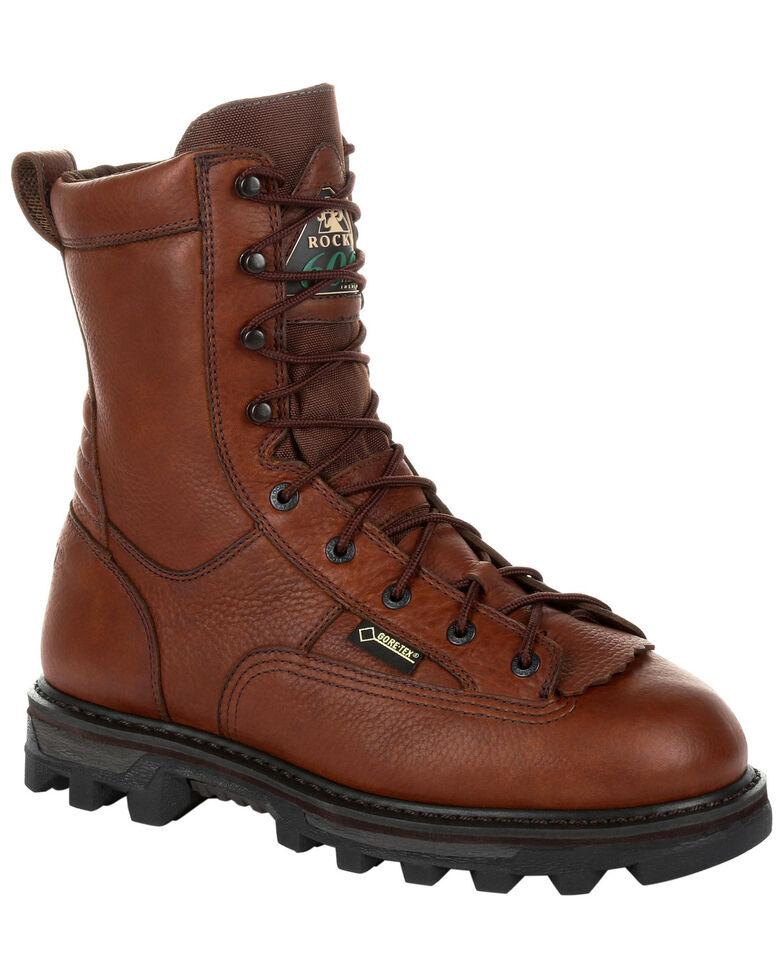 Rocky Men's BearClaw 3D Waterproof Outdoor Boots - Round Toe, Brown, hi-res