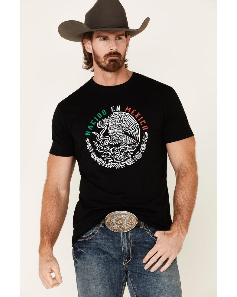 Cody James Men's Black Born In Mexico Graphic T-Shirt , Black, hi-res