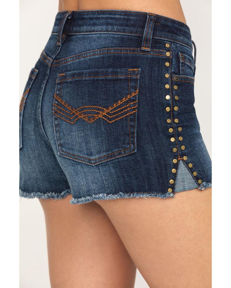 Idyllwind Women's Gold Rusher Studded Denim Shorts, Blue, hi-res