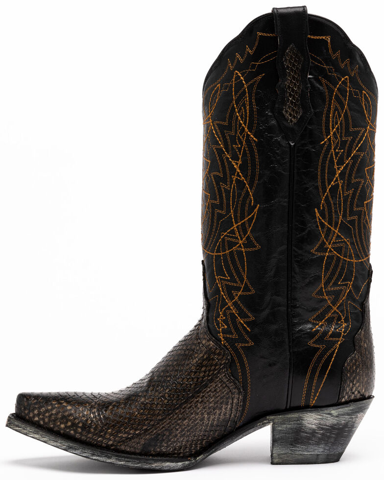 Dan Post Women's Water Snake Western Boots - Snip Toe, Grey, hi-res