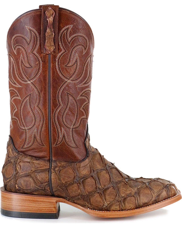 Pirarucu Exotic Boots - Square Toe