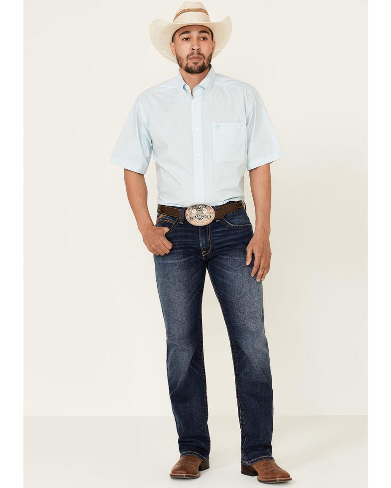 Ariat Men's White Troaches Geo Print Short Sleeve Western Shirt , White, hi-res