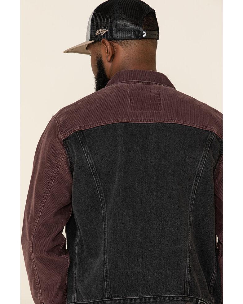 Levi's Men's Snapback Corduroy Trucker Jacket , Black/red, hi-res