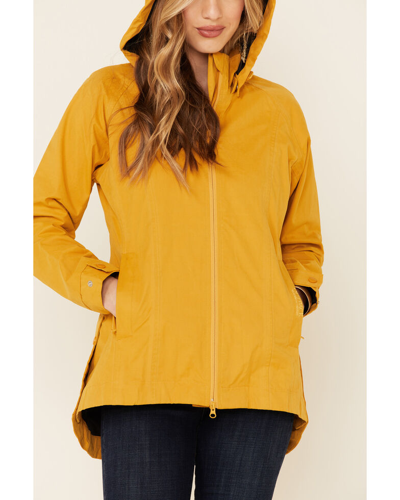Outback Trading Co. Women's Solid Mustard Brookside Hooded Zip-Front Rain Jacket , Mustard, hi-res