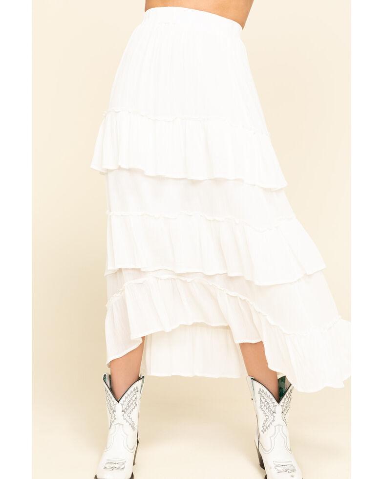 ILLA ILLA Women's Ivory Tiered Skirt, Ivory, hi-res