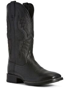 Ariat Men's Solado VentTEK Western Boots - Wide Square Toe, Black, hi-res