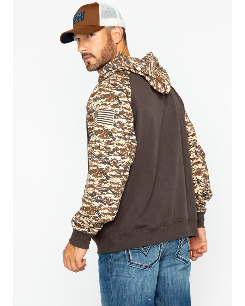 Ariat Men s Brown Patriot Desert Camo Hoodie - Country Outfitter 488f6ee9a