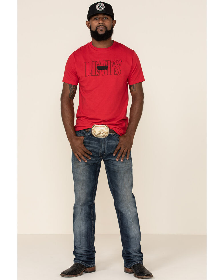 Levi's Men's Air Red Logo Graphic T-Shirt , Red, hi-res