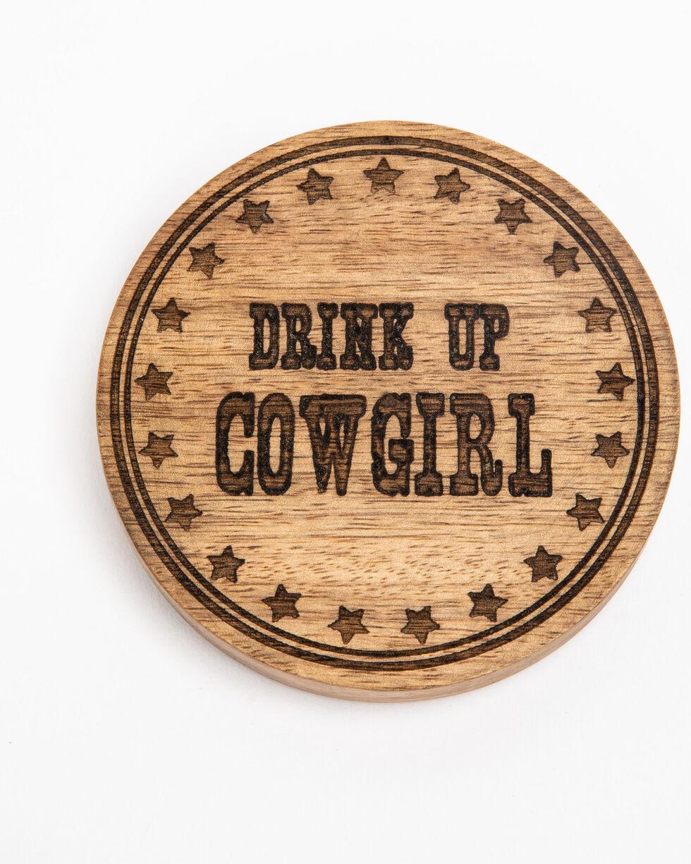 BB Ranch Drink Up Cowgirl Coaster Bottle Opener , Brown, hi-res