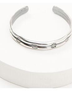 Broken Arrow Women's Double Stamped Cuff Bracelet, Silver, hi-res