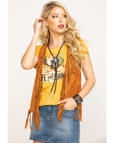 Idyllwind Women's Catch You Later Vest, Brown, hi-res