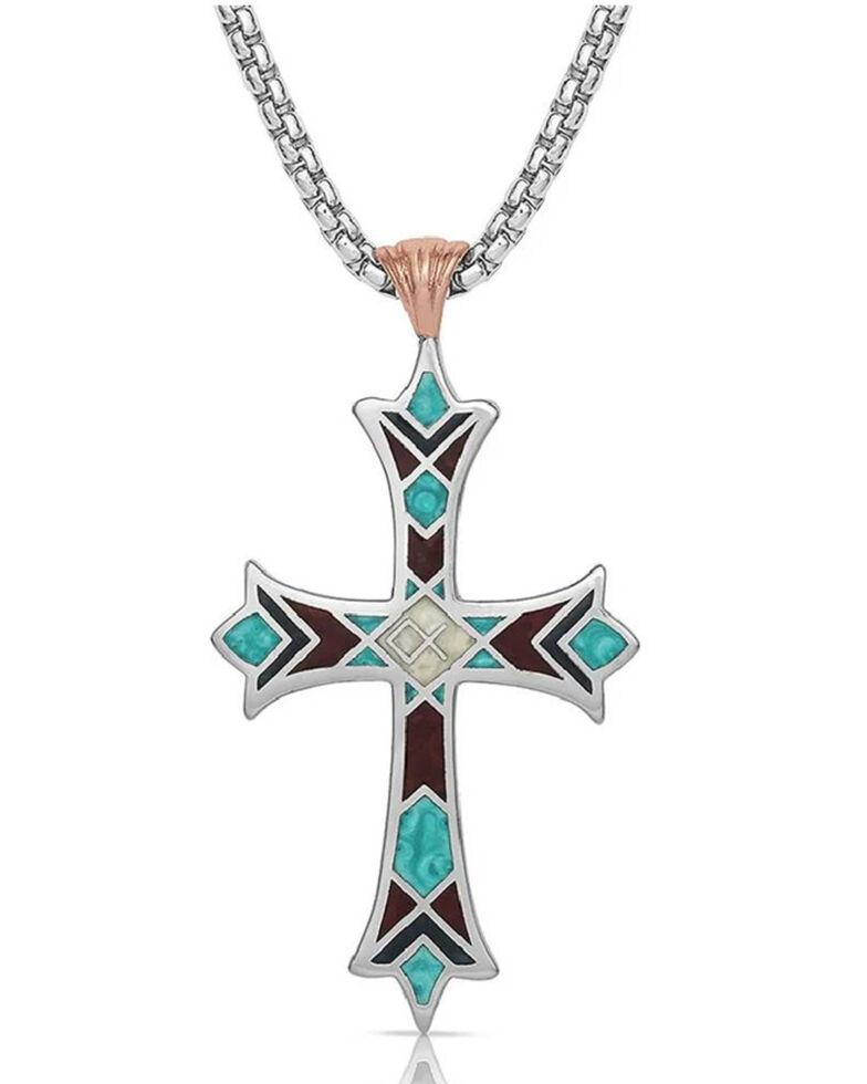 Montana Silversmiths Women's Embracing Faith Cross Necklace, Silver, hi-res