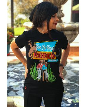 Rodeo Quincy Women's Viva Las Vegas Crew Graphic Tee , Black, hi-res