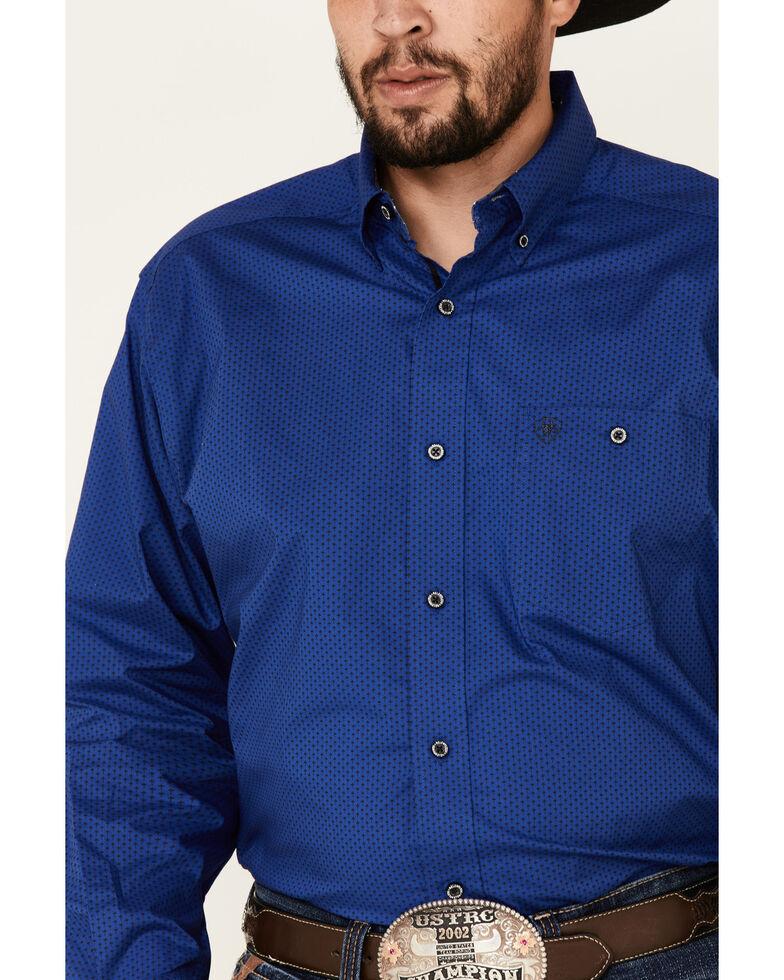 Ariat Men's System Floral Geo Print Long Sleeve Western Shirt , Blue, hi-res