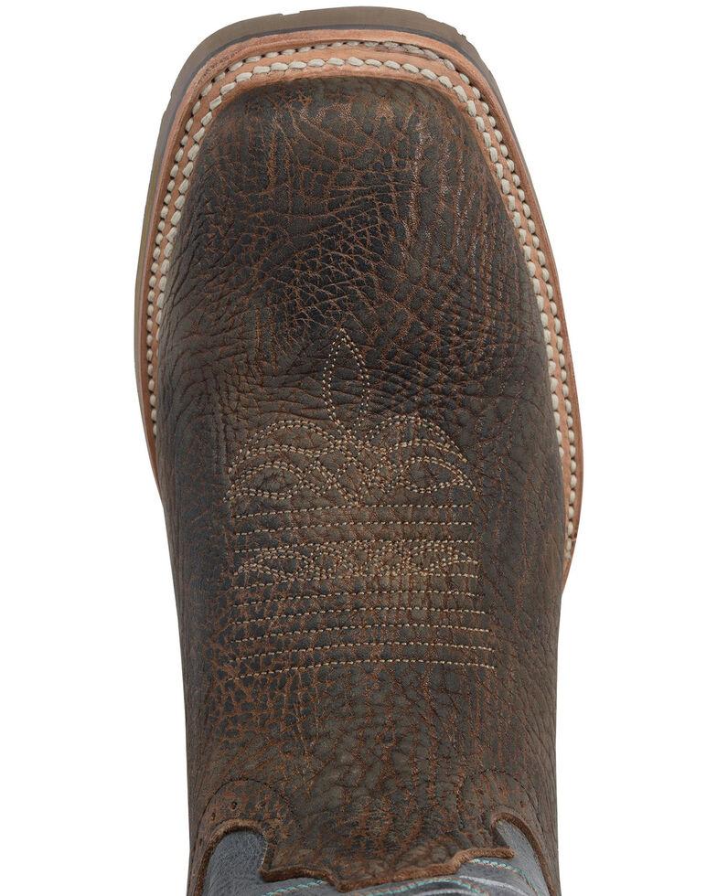 Double H Men's Fernandes Western Work Boots - Soft Toe, Medium Brown, hi-res