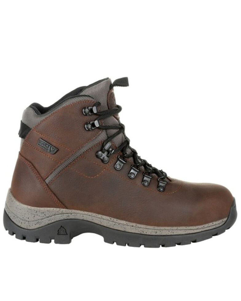 Rocky Men's Versatrek Waterproof Work Boots - Soft Toe, Brown, hi-res