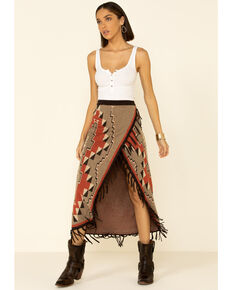 Tasha Polizzi Women's Chili Village Skirt , Chilli, hi-res