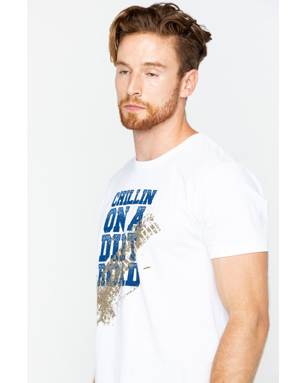 Cody James Men' Dirt Road Short Sleeve T-Shirt, White, hi-res