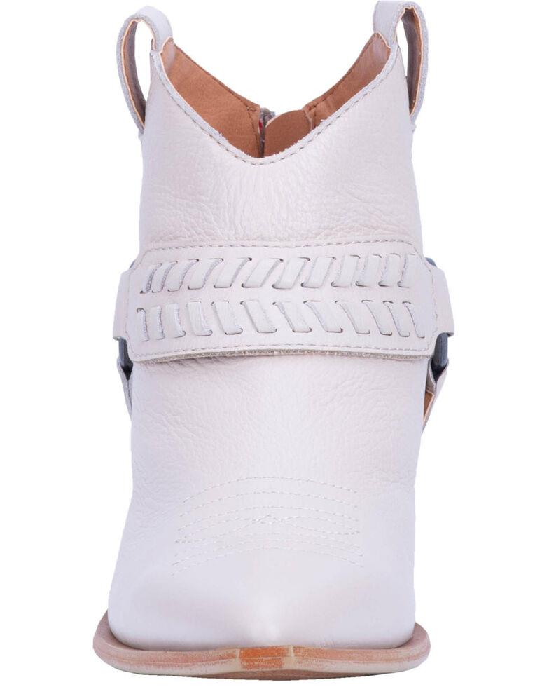 Dingo Women's Keepsake Braided Harness Fashion Booties - Round Toe, Ivory, hi-res