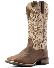 Ariat Men's Quickdraw Long Trail Western Boots - Wide Square Toe, Brown, hi-res