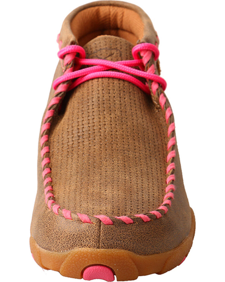 9902d5b1552f Zoomed Image Twisted X Women's Bomber Breast Cancer Ribbon Driving Moccasin  - Moc Toe, Pink, hi