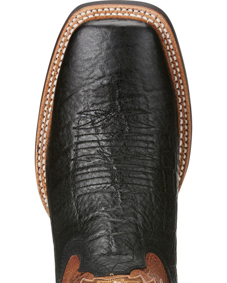 Ariat Men's Arena Rebound Elephant Print Cowboy Boots - Square Toe, Black, hi-res