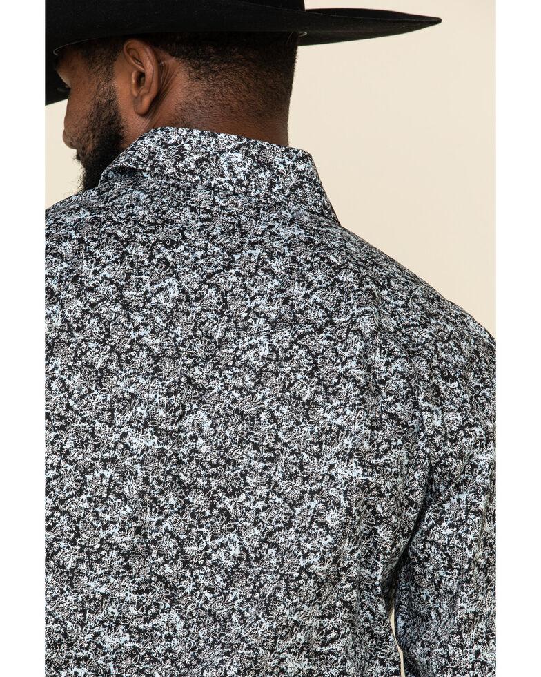 Rough Stock By Panhandle Men's Schuler Floral Print Long Sleeve Western Shirt , Black, hi-res