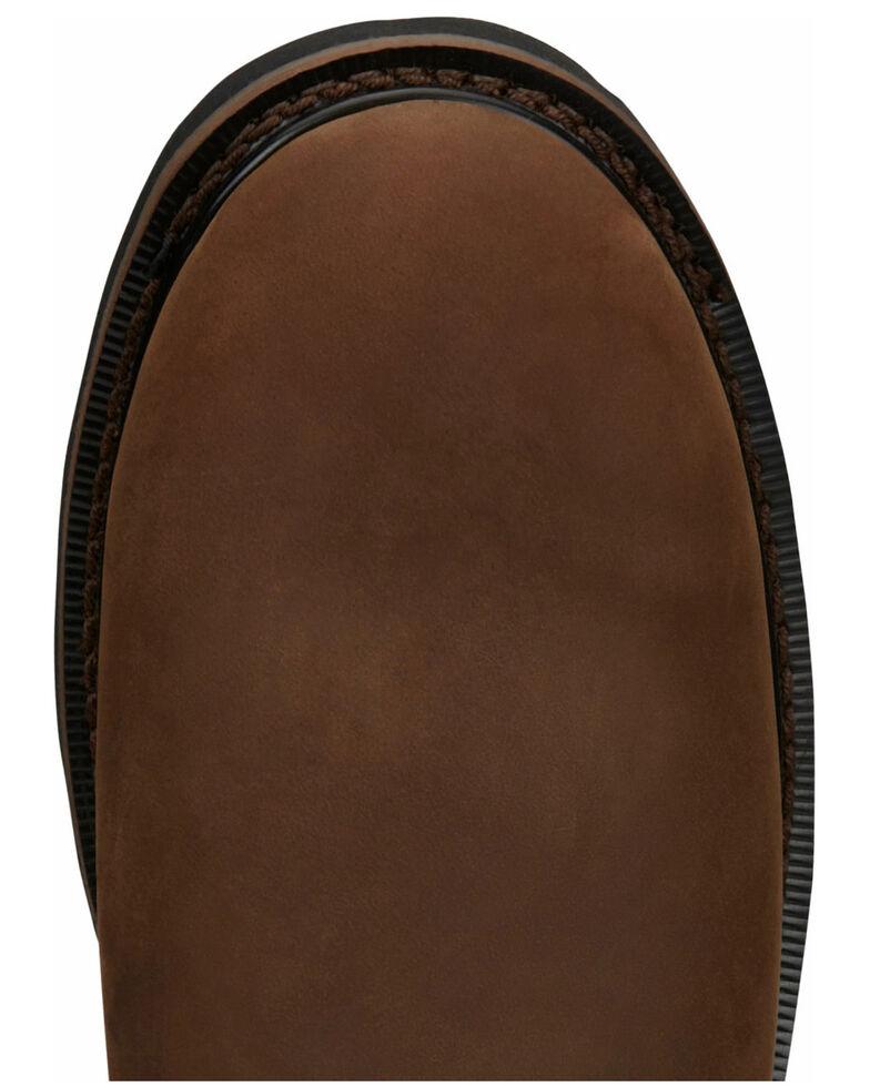 Justin Men's Drywall Waterproof Work Boots - Soft Toe, Brown, hi-res