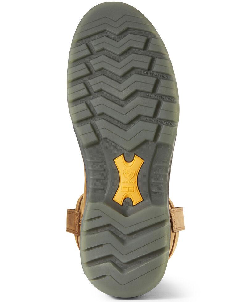 Ariat Men's Turbo Waterproof Western Work Boots - Carbon Toe, Brown, hi-res