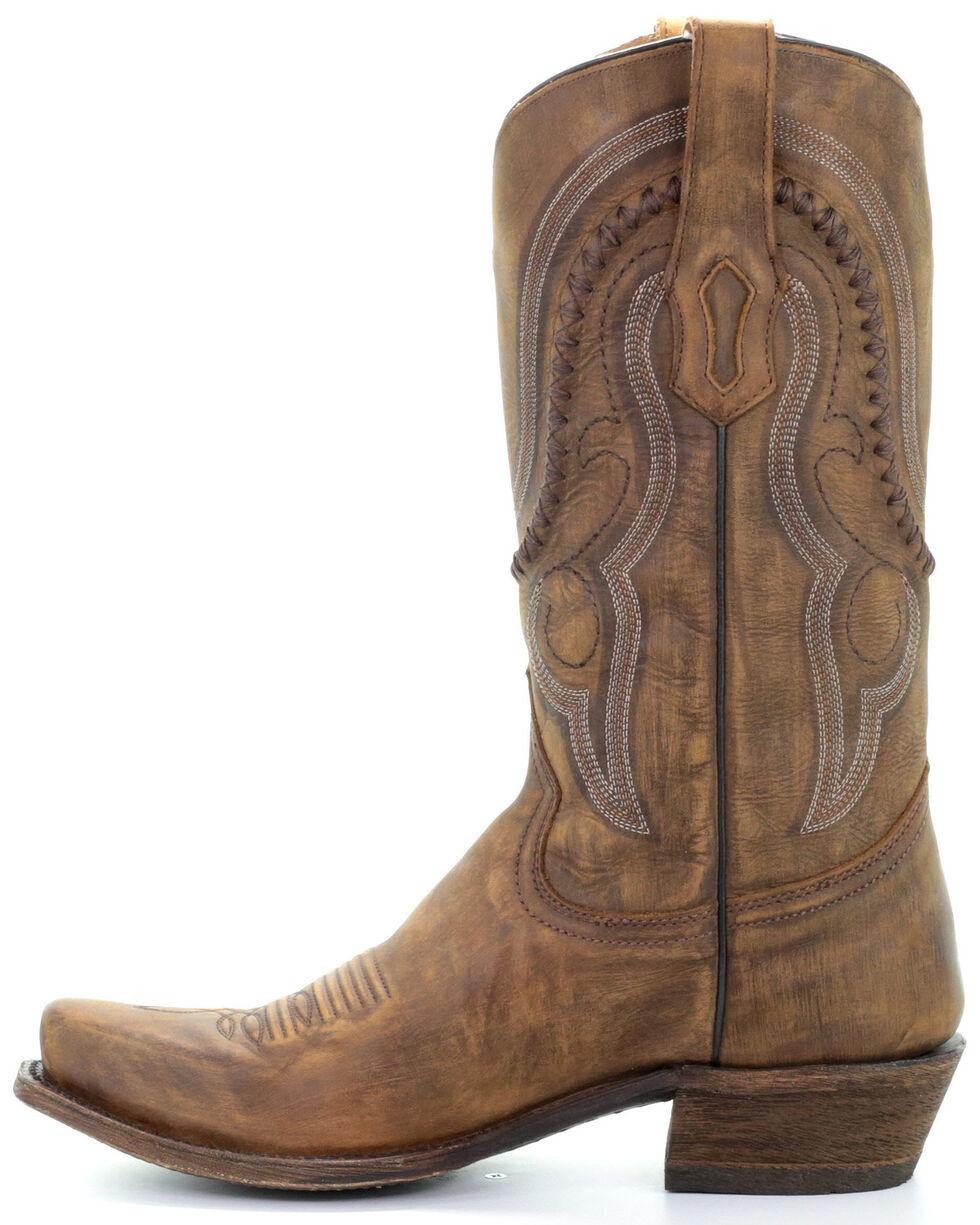 Corral Men's Jeb Western Boots - Narrow Square Toe, Gold, hi-res