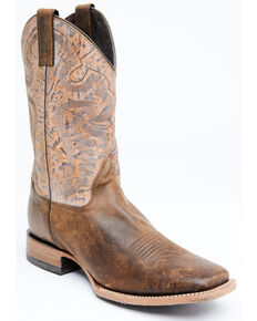 Cody James Men's Tupelo Western Boots - Wide Square Toe, Tan, hi-res