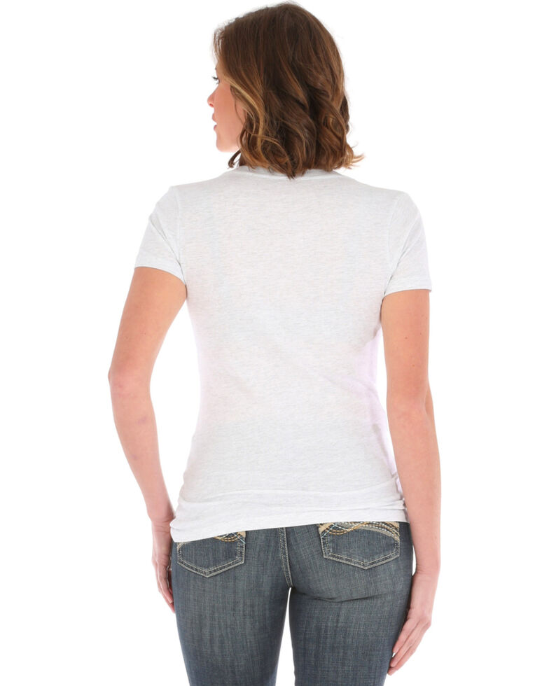 Wrangler Women's Touch Enough To Wear Pink Short Sleeve Tee , White, hi-res