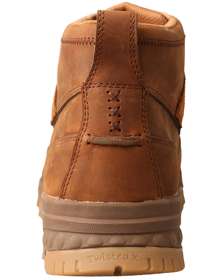 Twisted X Men's CellStretch Lace-Up Work Boots - Composite Toe, Brown, hi-res