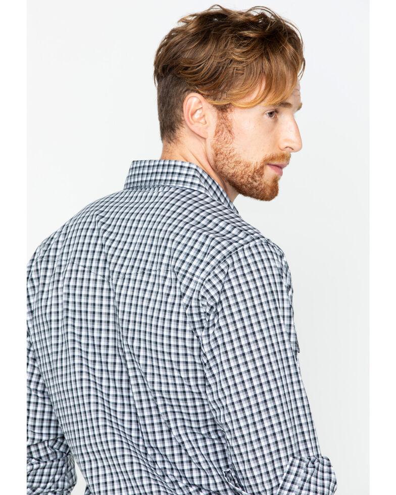 Wrangler Men's Wrinkle Resist Plaid Long Sleeve Western Shirt, Black, hi-res