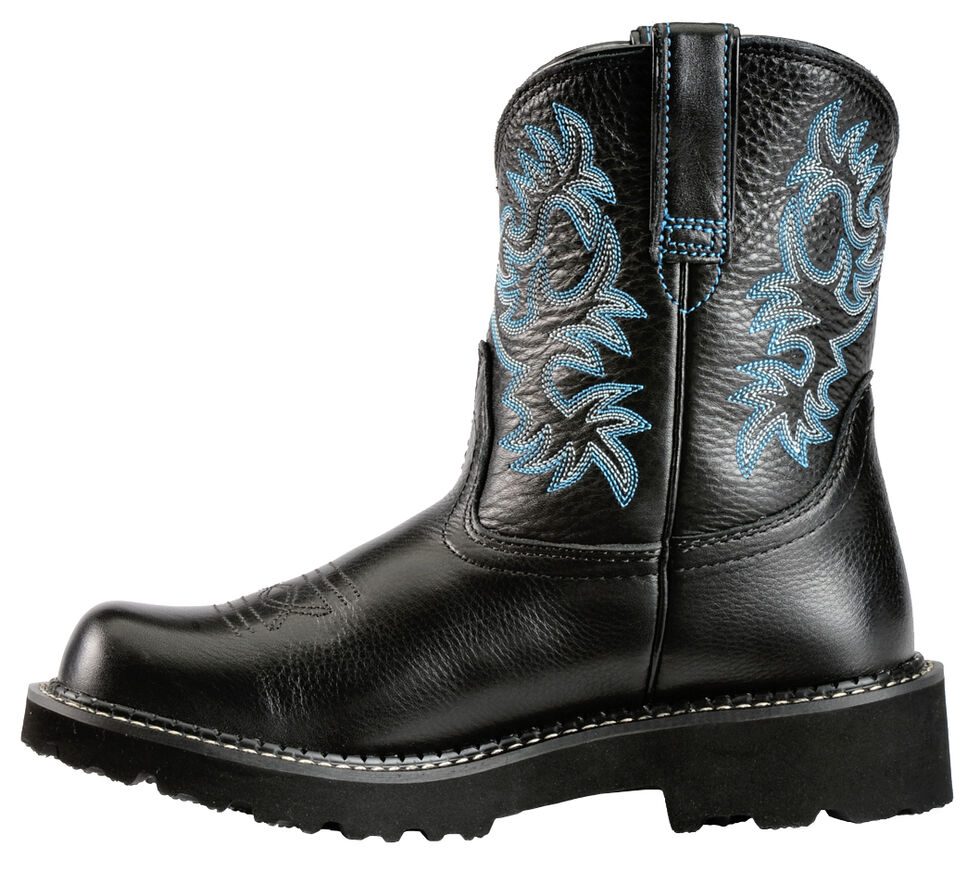 Ariat Fatbaby Black Cowgirl Boots, Black, hi-res