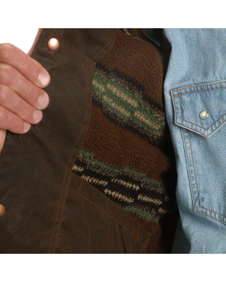 Outback Trading Co. Cliff Dweller Berber Lined Oilskin Vest, Bronze, hi-res