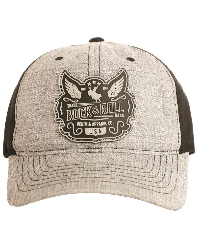 Rock & Roll Cowboy Men's Wing Patch Cap, Grey, hi-res