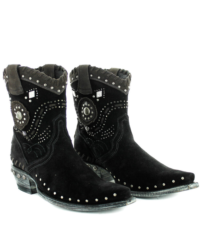 Old Gringo Native Pride Fashion Booties - Snip Toe, Black, hi-res