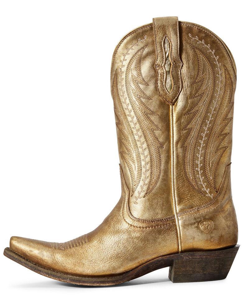 Ariat Women's Tailgate Gold Western Boots - Snip Toe, Beige/khaki, hi-res