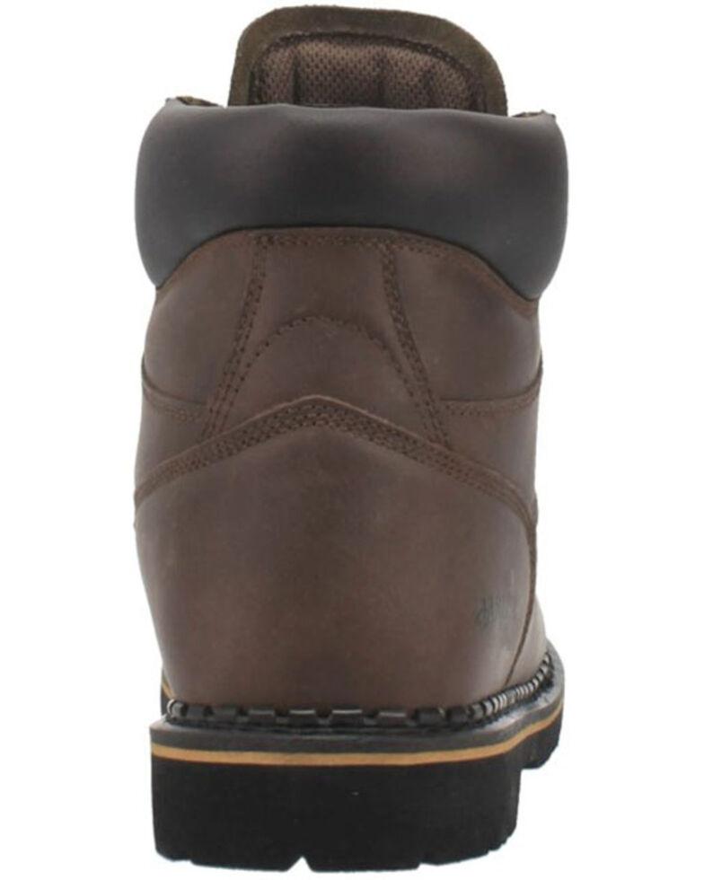 Laredo Men's Hub & Tack Lace-Up Work Boots - Soft Toe, Brown, hi-res