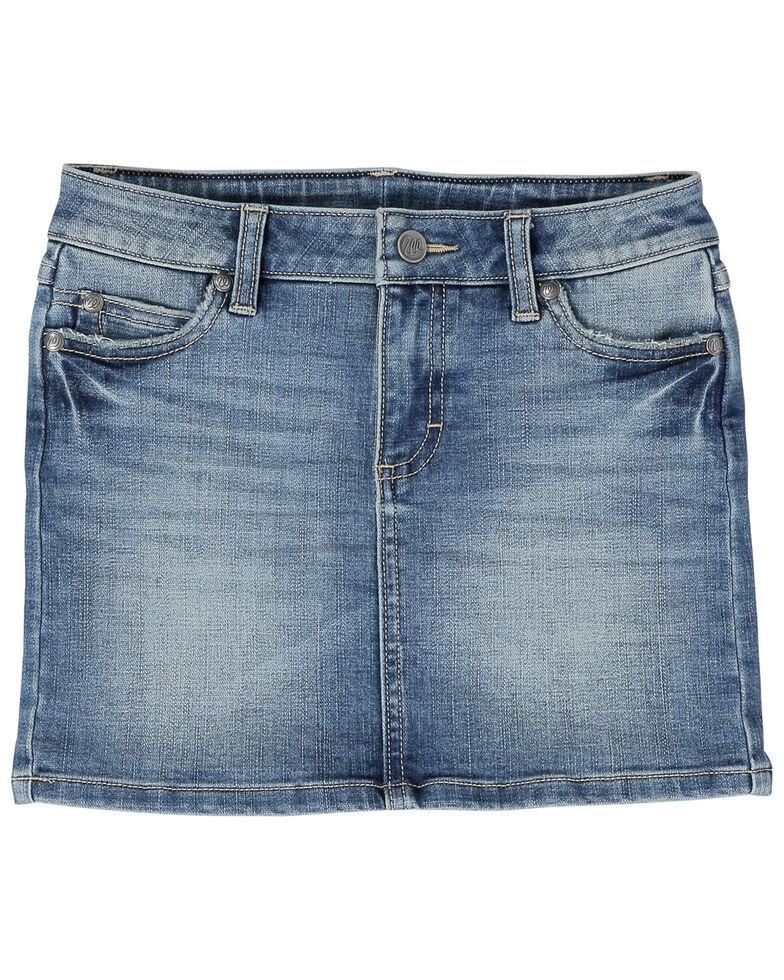 Wrangler Retro Girls' Classic Carmel Denim Skirt , Blue, hi-res