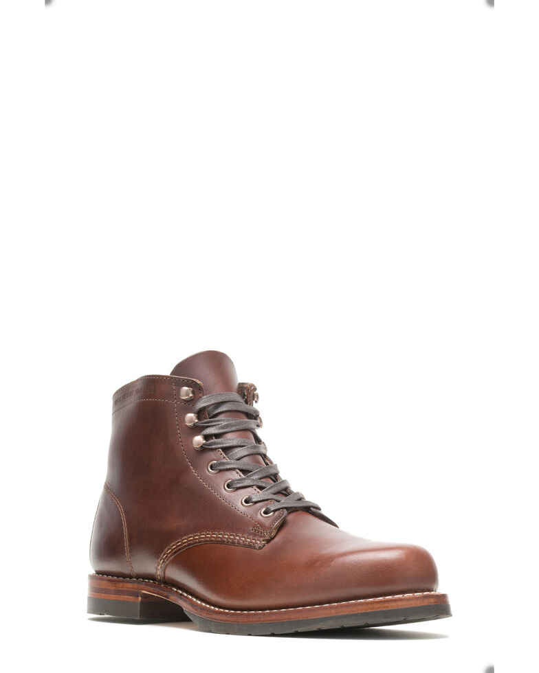 Wolverine Men's Evans 1000 Mile Work Boots - Soft Toe, Brown, hi-res