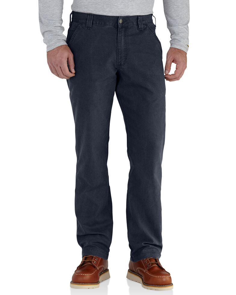 Carhartt Men's Rugged Flex Rigby Dungarees , Navy, hi-res