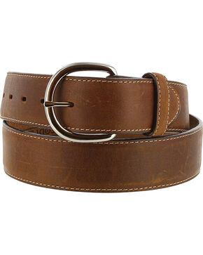 Justin Men's Brown Classic Western Leather Belt , Brown, hi-res