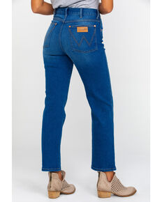 Wrangler Women's Blue Lagoon High Rise Heritage Jeans , Blue, hi-res