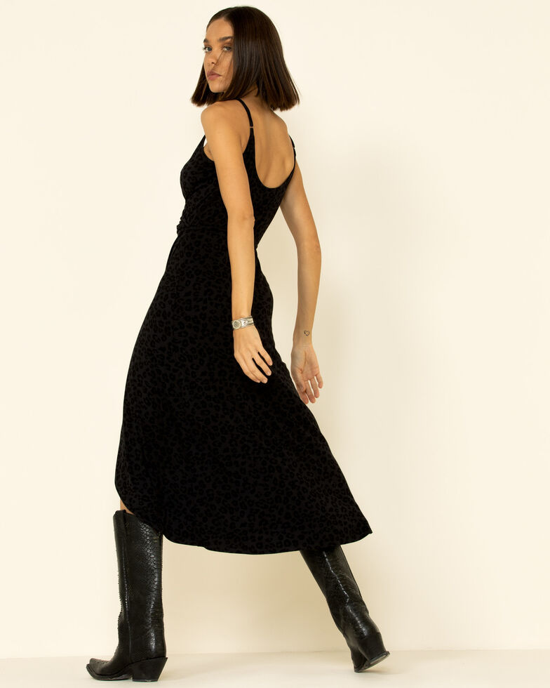 Z Supply Women's Faux Wrap Leopard Dress, Black, hi-res