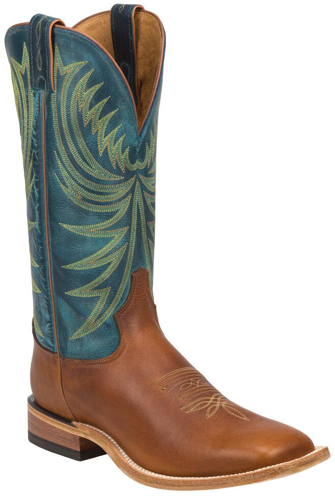 Tony Lama Suntan Rebel Americana Cowboy Boots -  Wide Square Toe , Suntan, hi-res