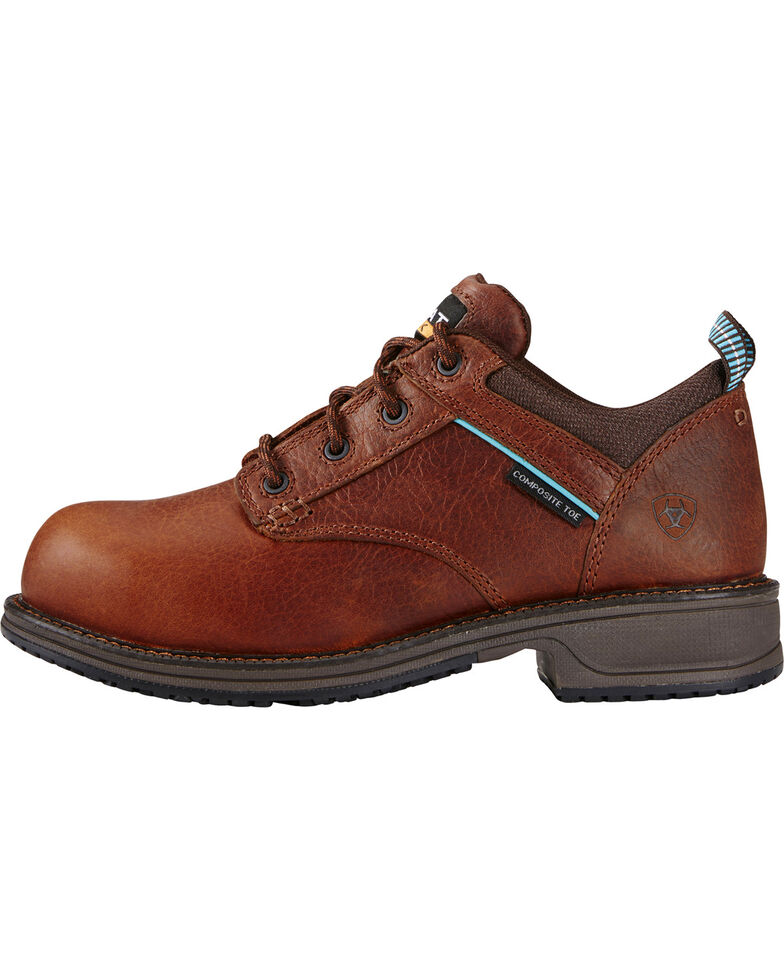 Ariat Women's Oxford Work Shoes - Composite Toe, Brown, hi-res