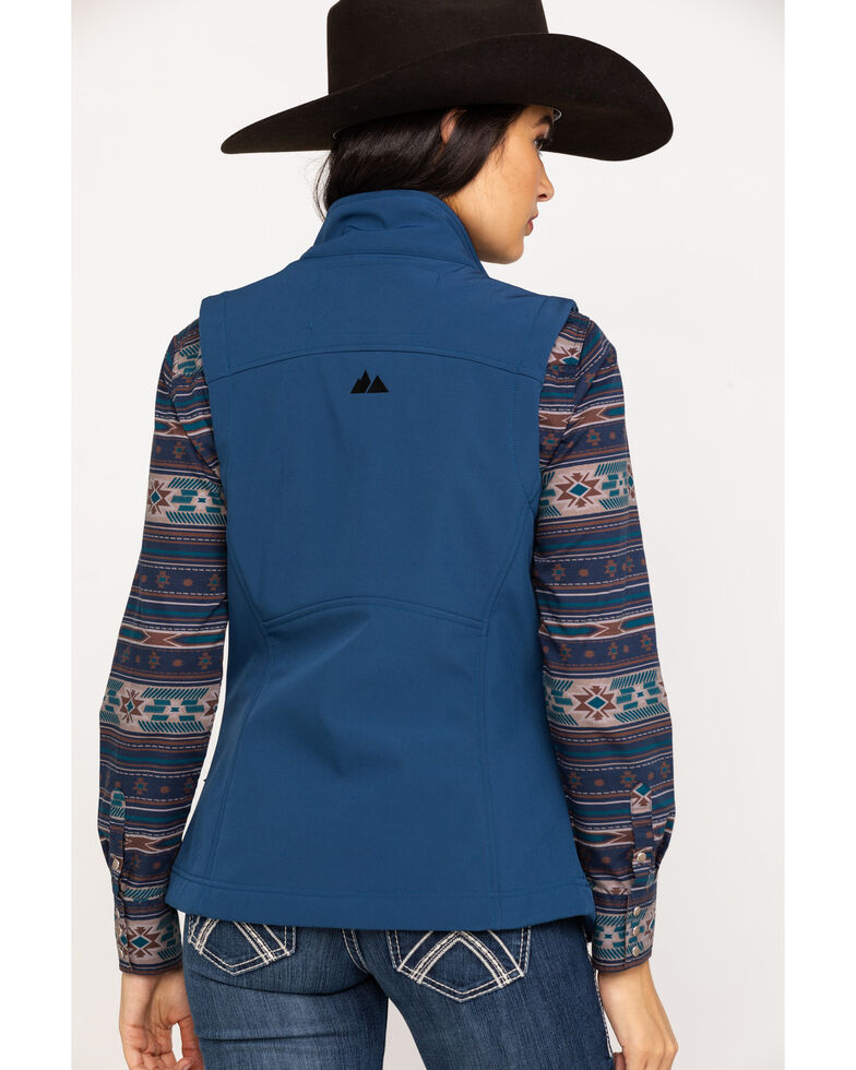 Powder River Outfitters Women's Softshell Vest, Blue, hi-res